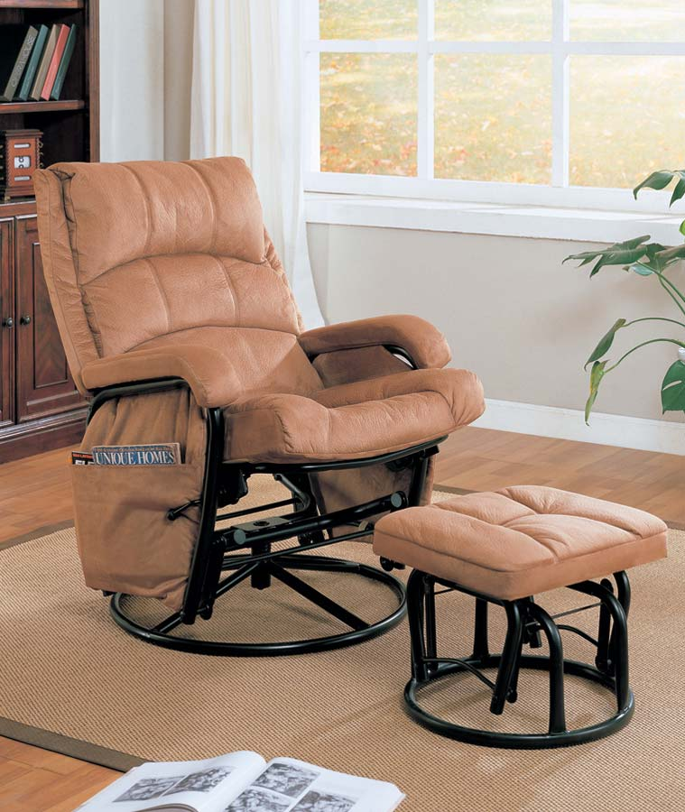 Coaster 650005 Glider Rocker with Ottoman