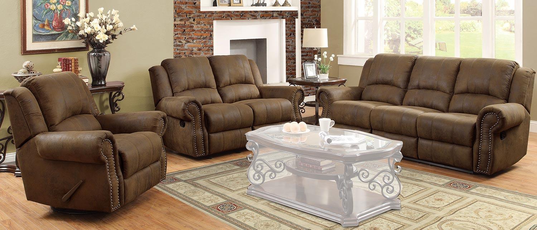 Coaster Sir Rawlinson Motion Sofa Set - Brown