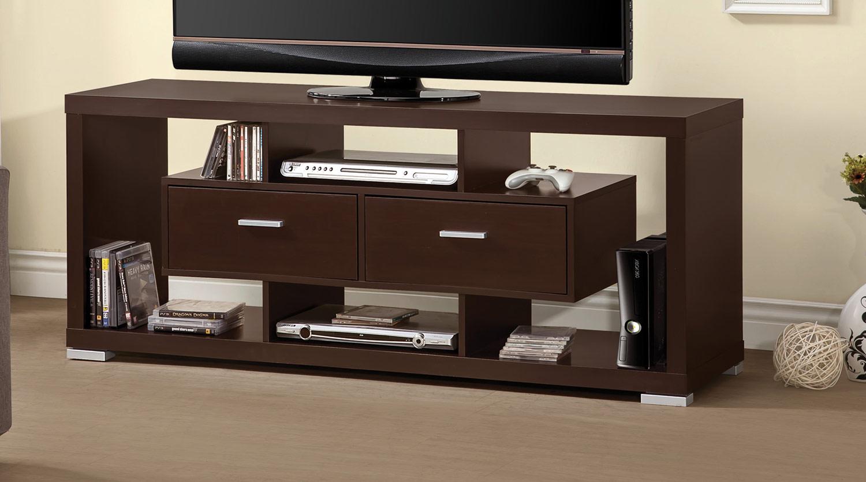 Coaster 700112 TV Console - Cappuccino