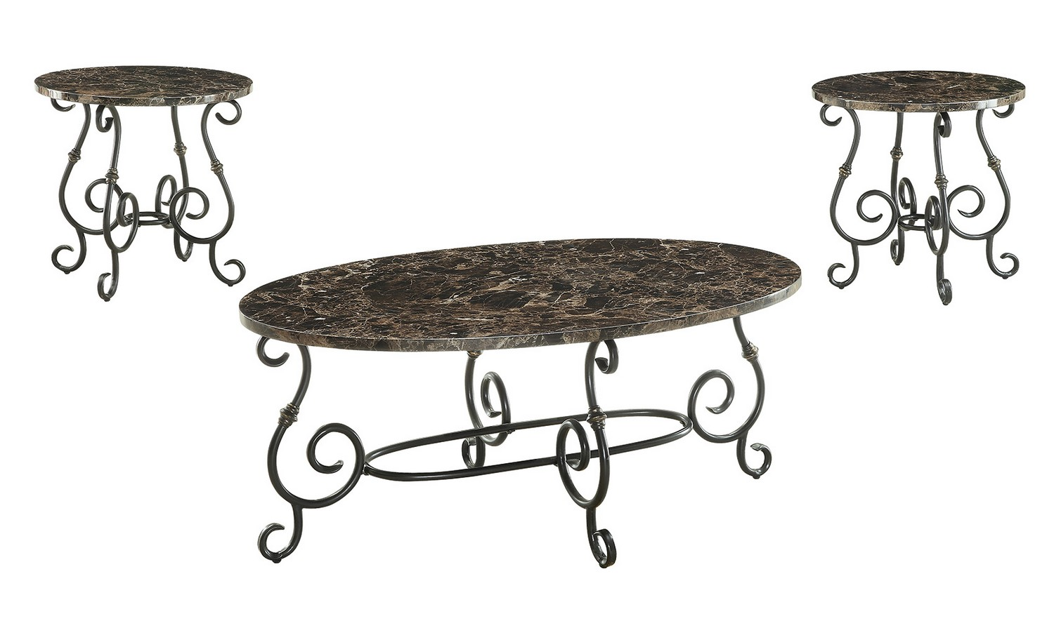 Coaster 700187 3 Pc Coffee Cocktail Table Set Black 700187 At