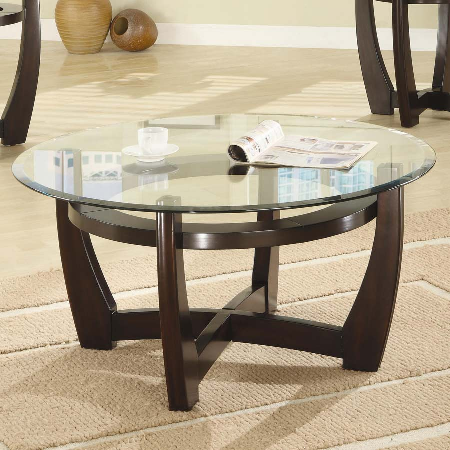 Oval Glass Coffee Table 3 Piece Set Furniture Home Decor: Coaster 700295 3 Piece Occasional Set 700295 At Homelement.com