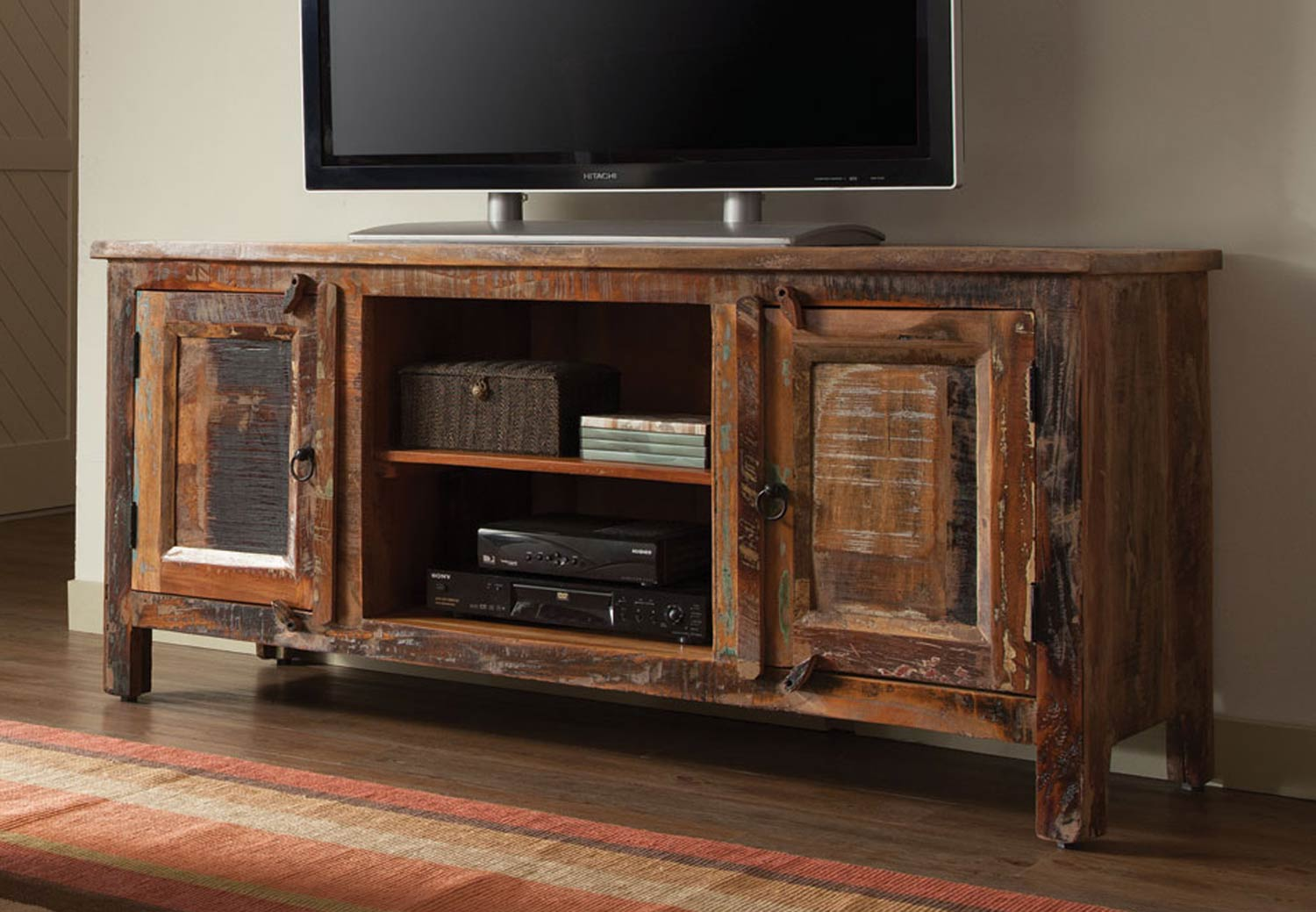 Coaster 700303 TV Stand - Reclaimed Wood