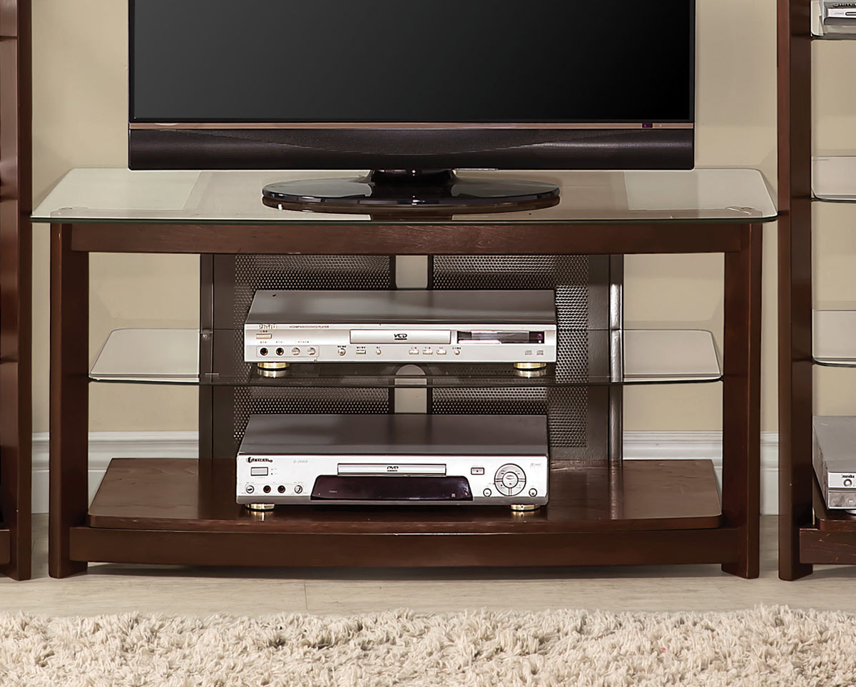 Coaster 700321 TV Console - Dark Iridescent Brown