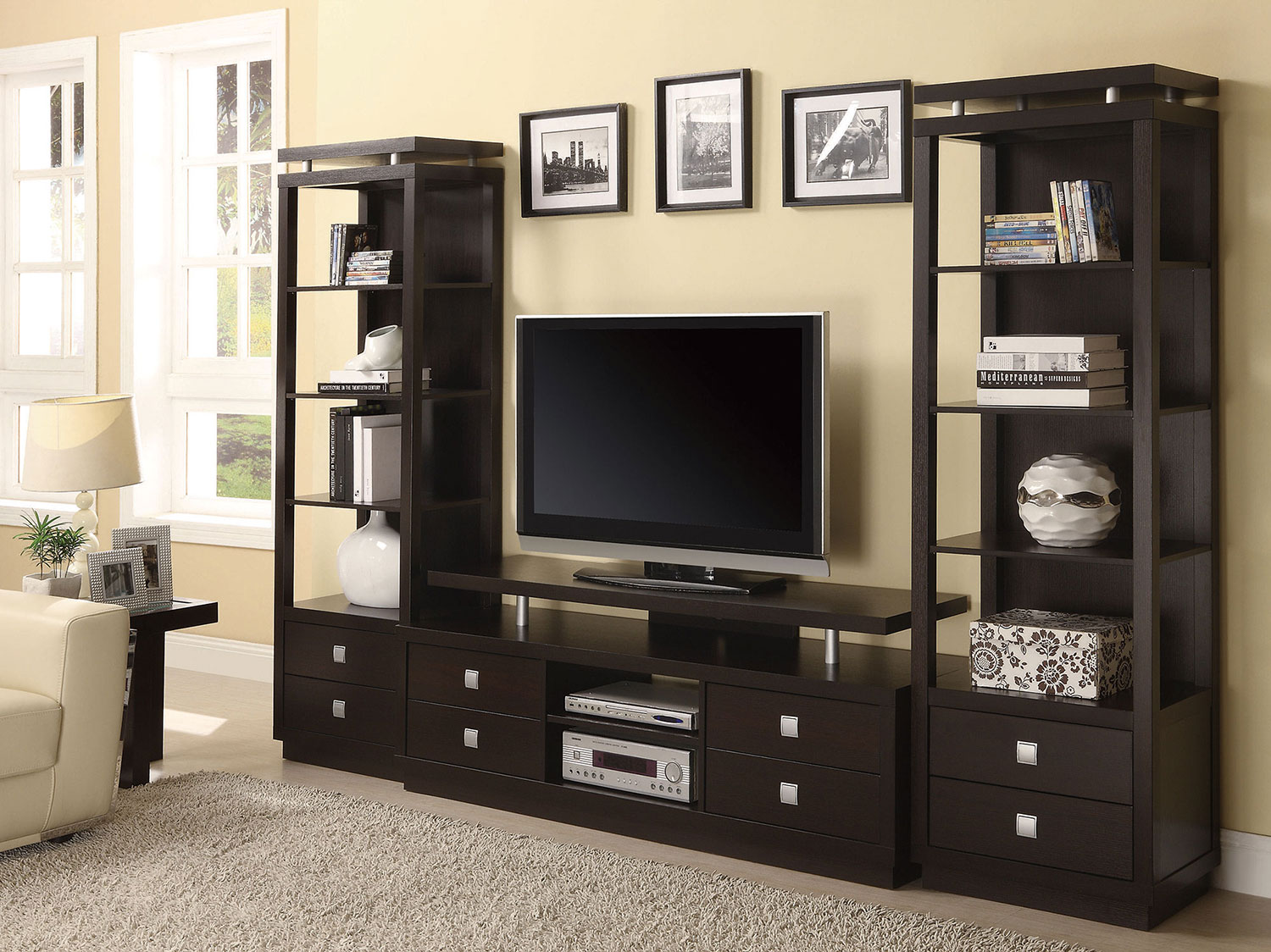 Coaster 700696 Entertainment Wall Unit - Cappuccino