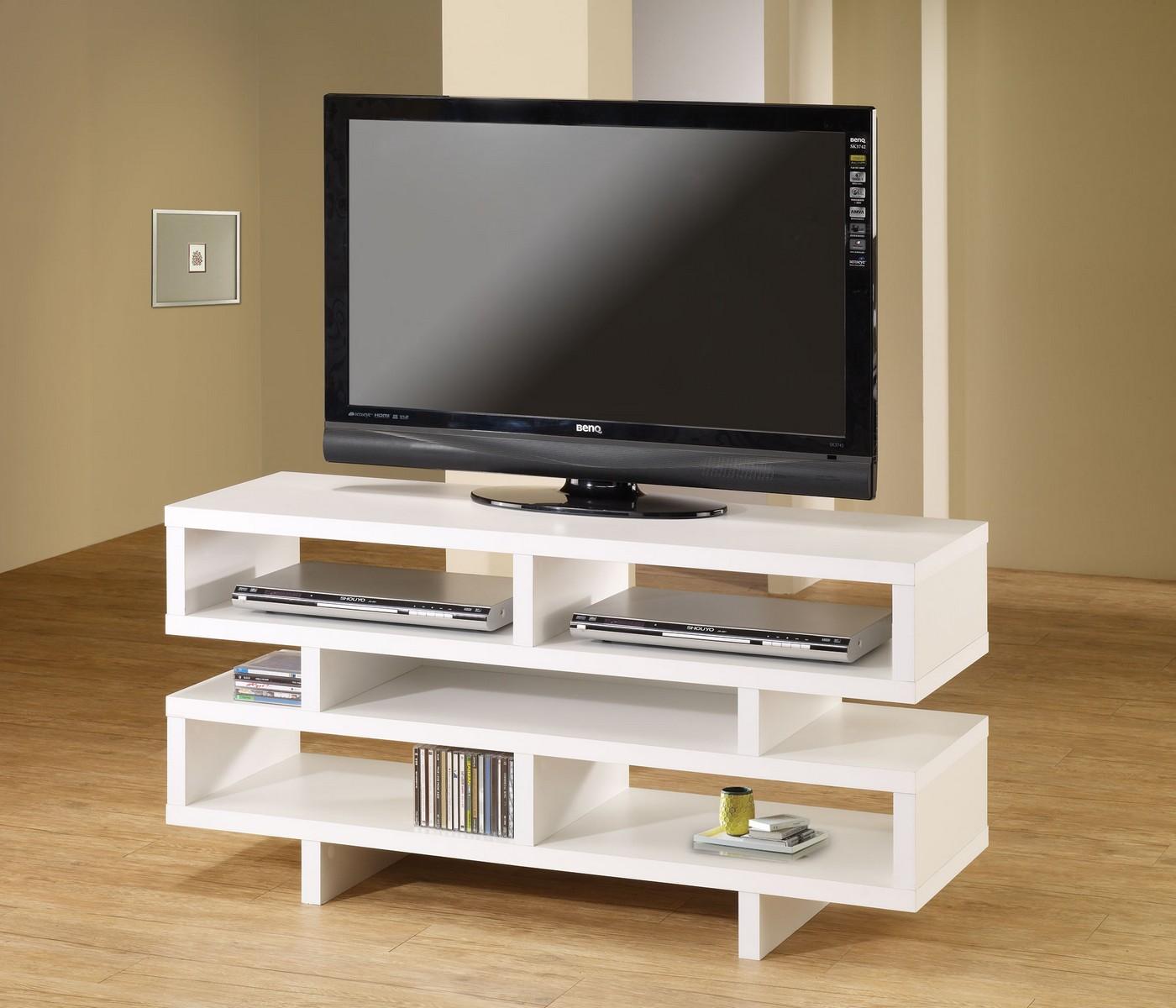 Coaster 700721 TV Console - White