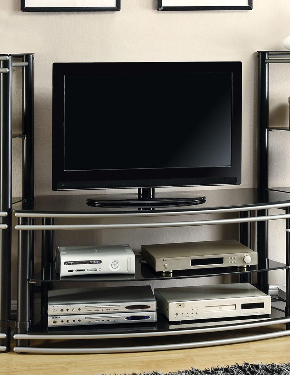 Coaster 700722 TV Console - Black/Silver