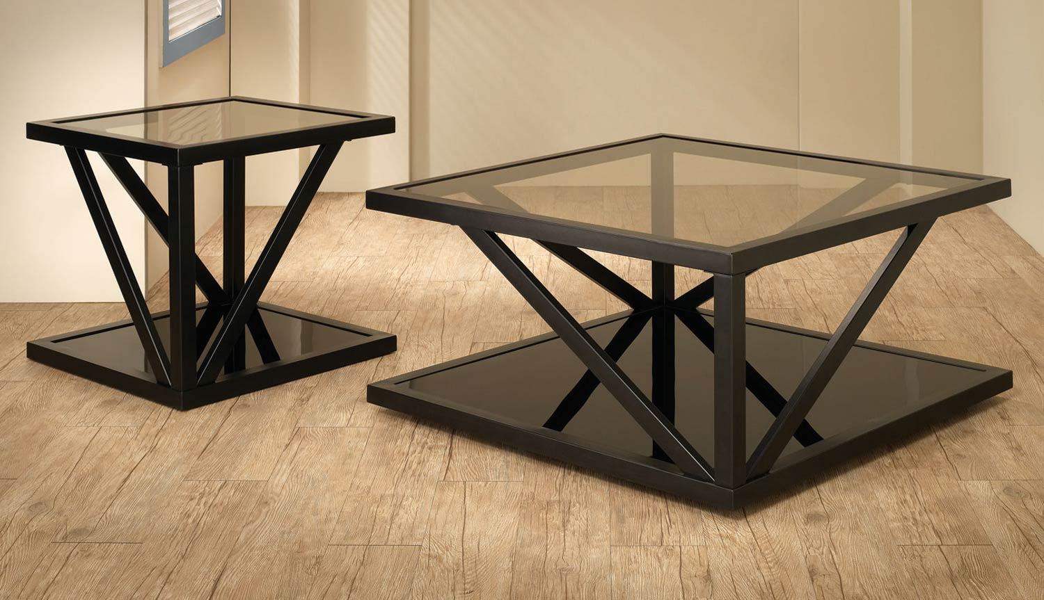 Coaster 700768 Coffee Table Set - Black 700767-700768