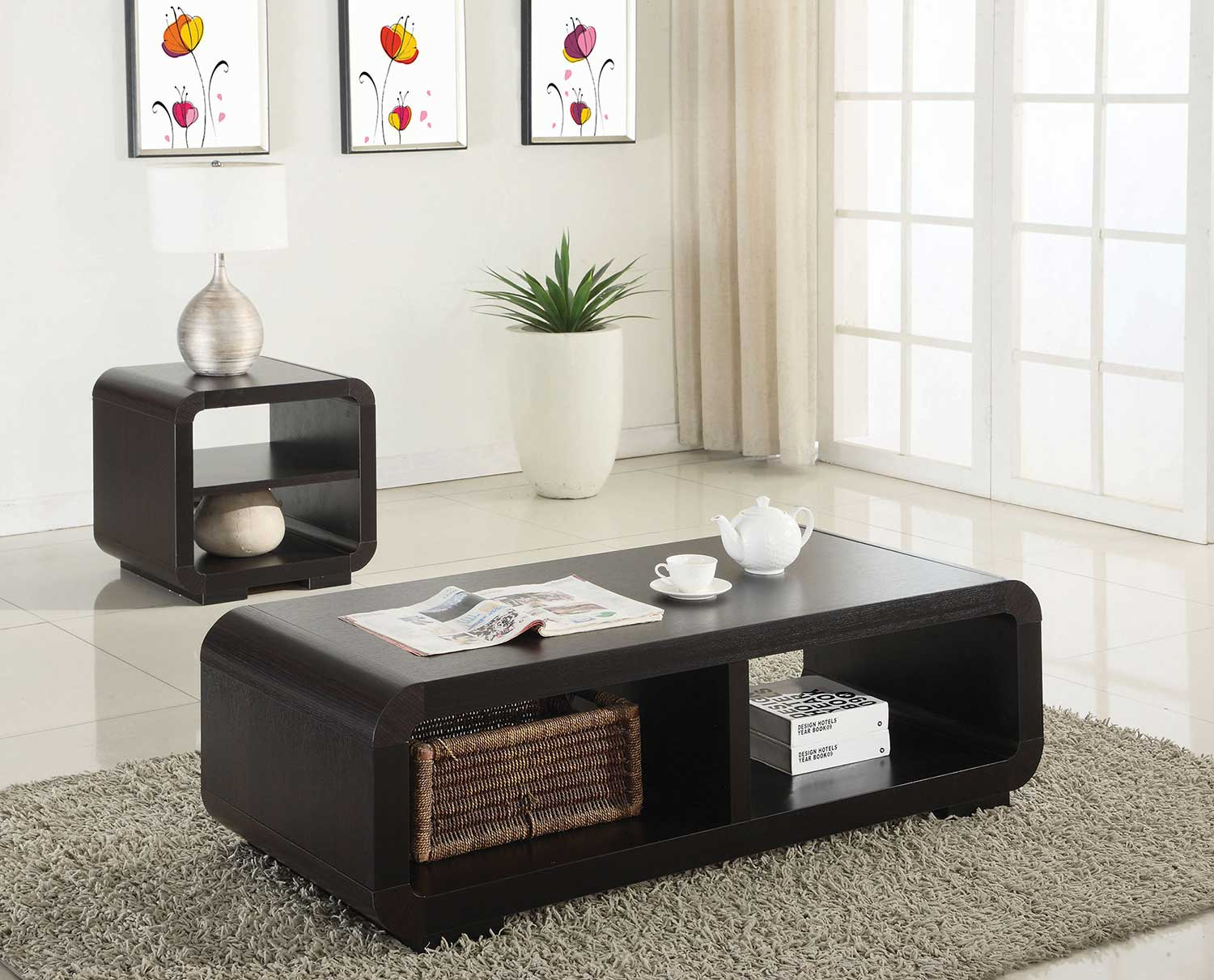 Coaster 700794 Occasional Coffee Table Set Cappuccino