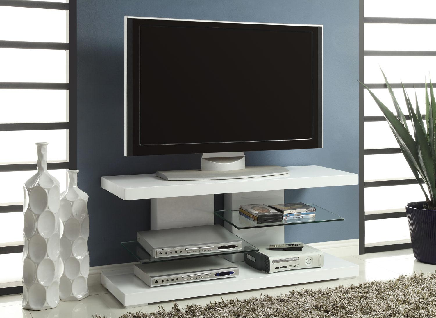 Coaster 700824 TV Stand - White
