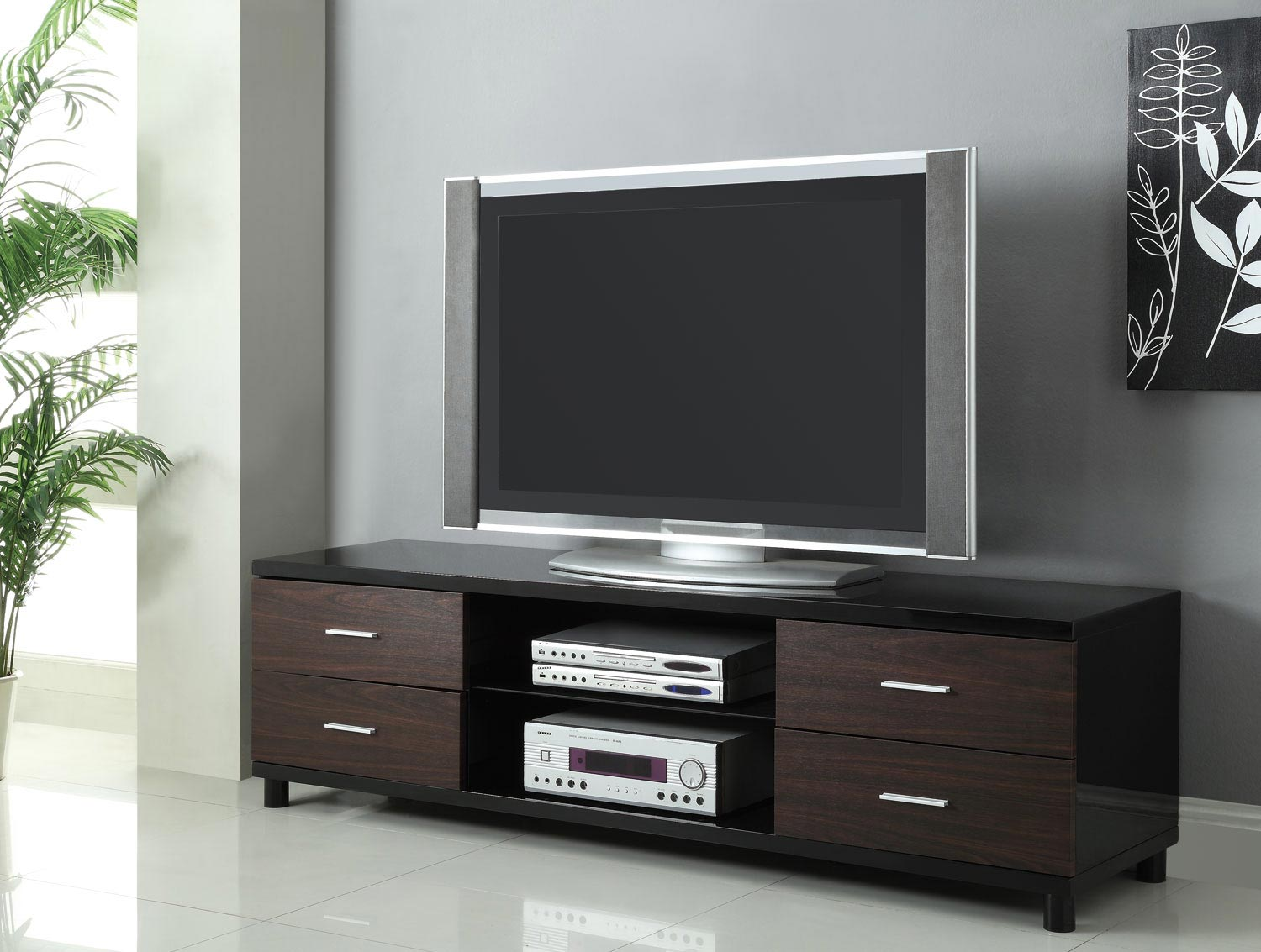 Coaster 700826 TV Stand - Black