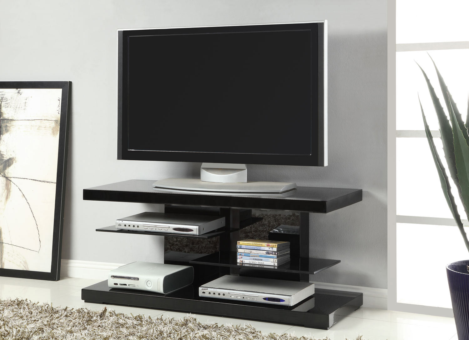 Coaster 700840 TV Stand - Black