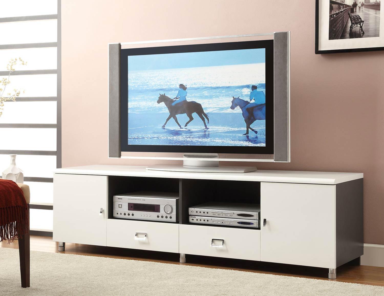 Coaster 700910 TV Console - White