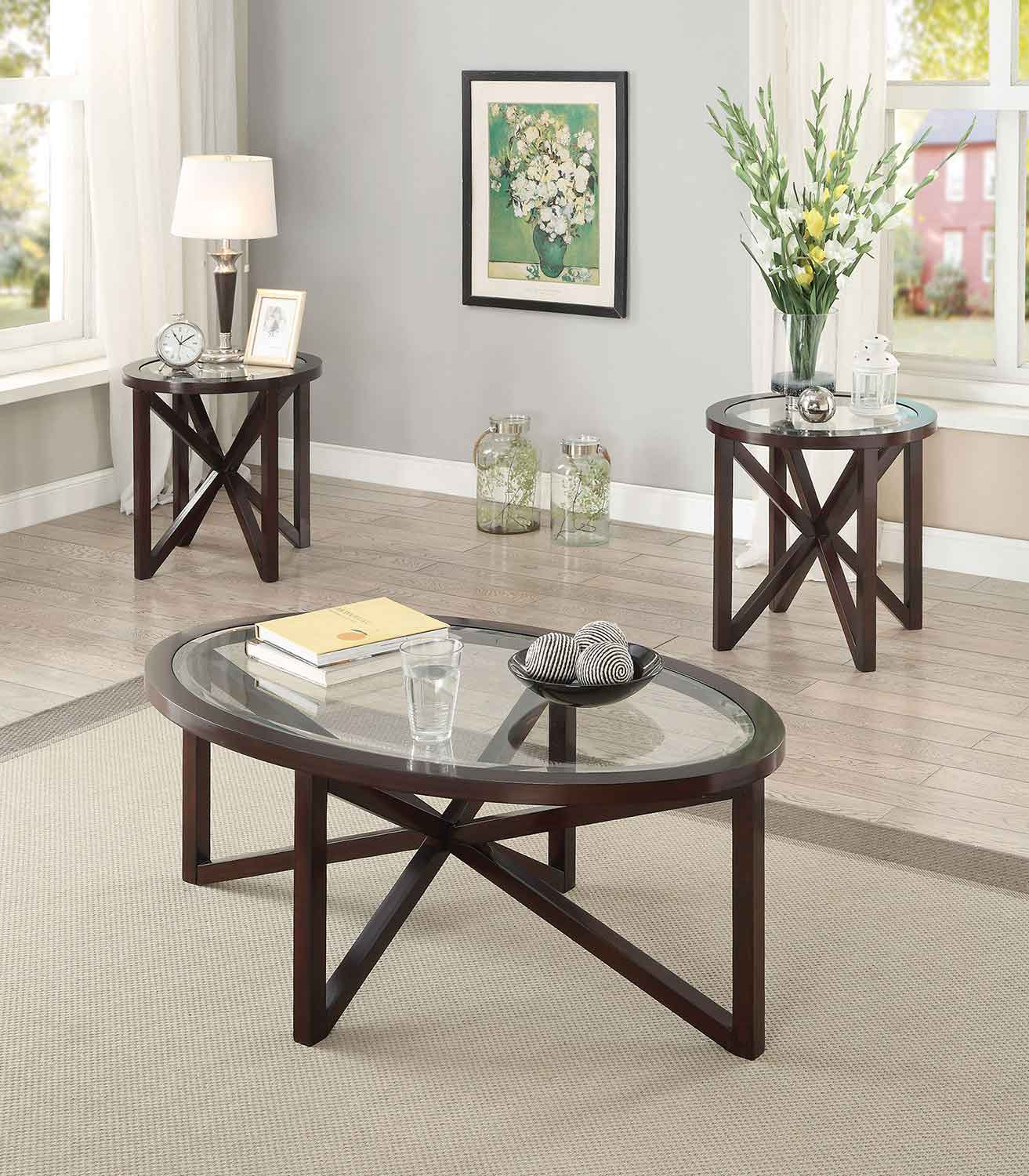 Coaster 701004 Occasional Coffee Table Set Cappuccino 701004 At