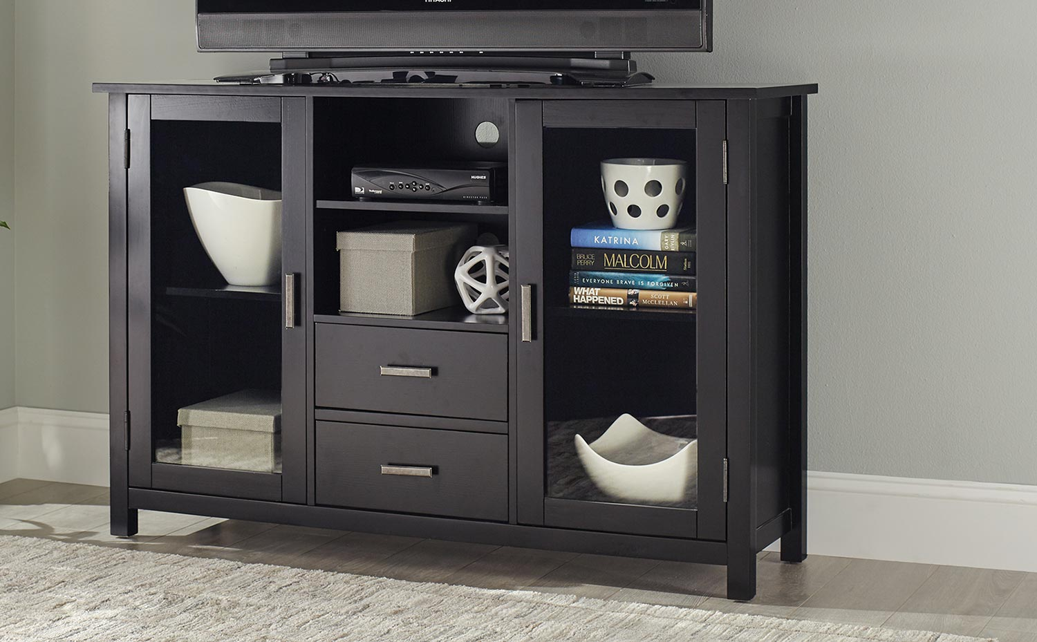 Coaster Trista TV Console - Black