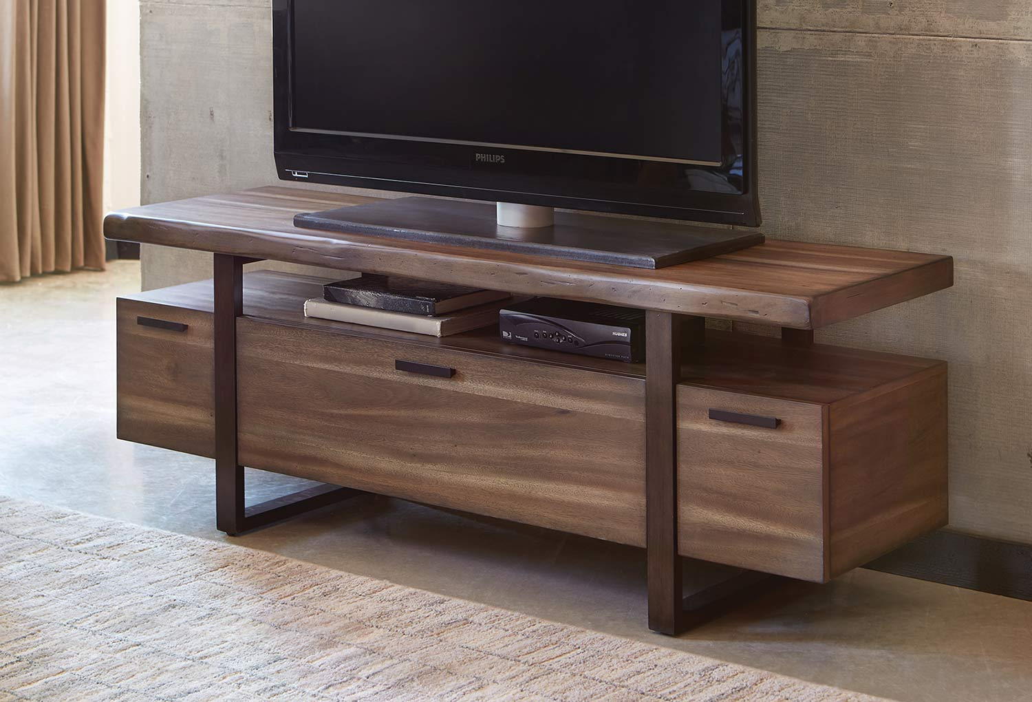 Coaster Atticus TV Console - Hazelnut