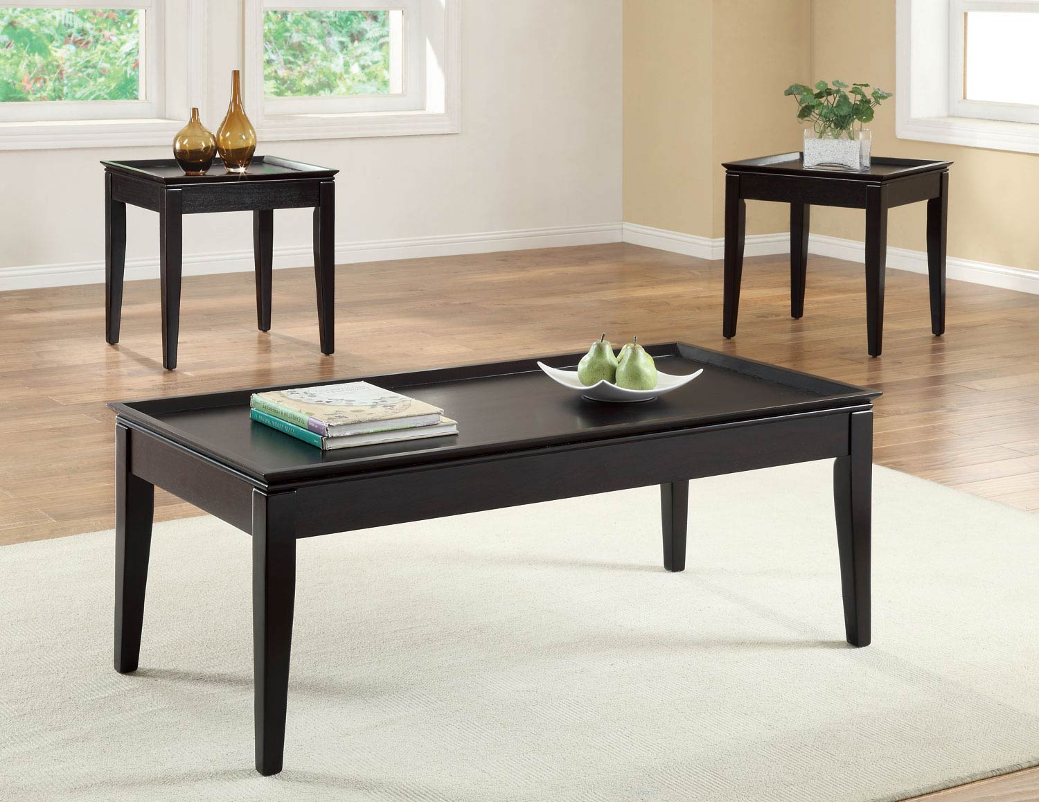 Coaster 701604 3 Pack Coffee Table Set Cappuccino