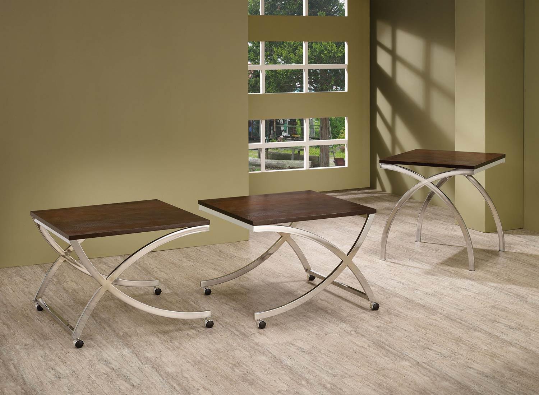 Coaster 701908 Coffee Table Set Cappuccino 701907 701908