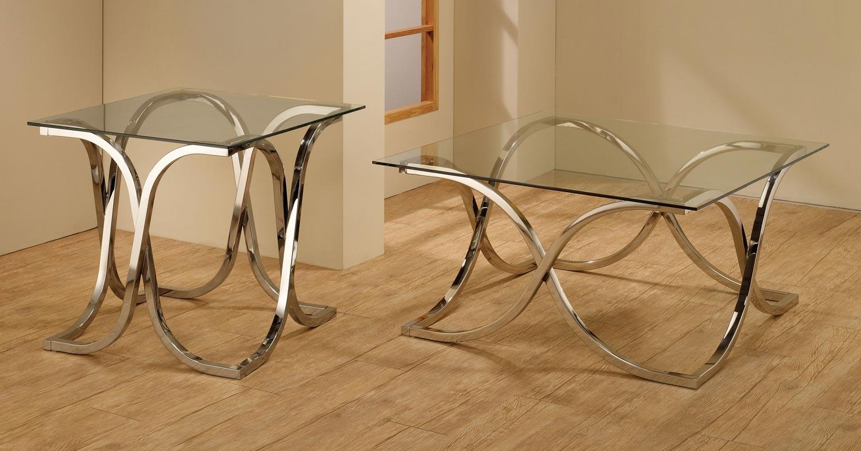 Coaster 701918 Coffee Table Set - Chrome