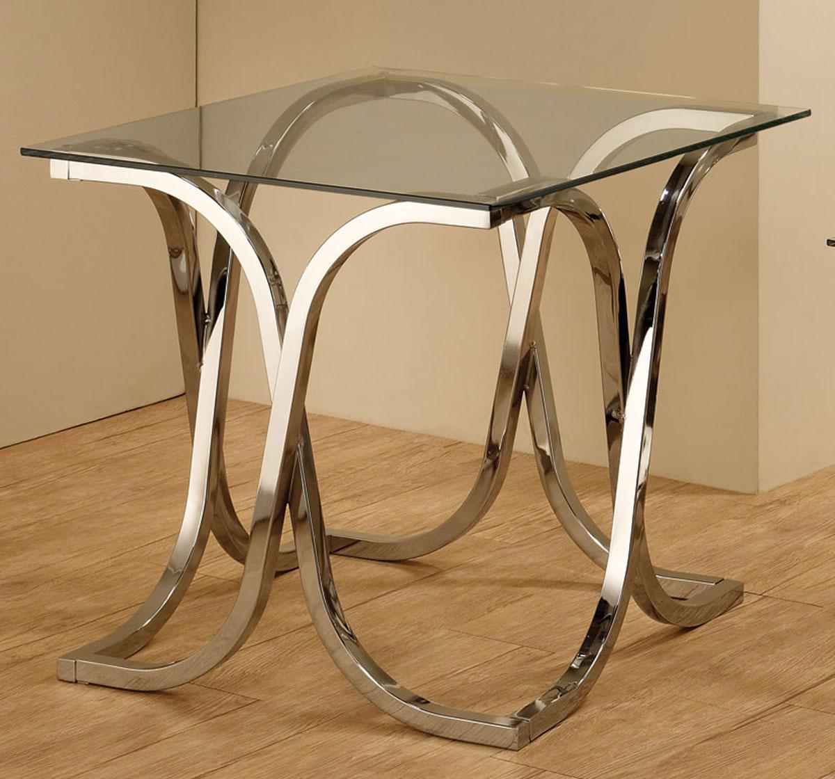 Coaster 701917 End Table - Chrome