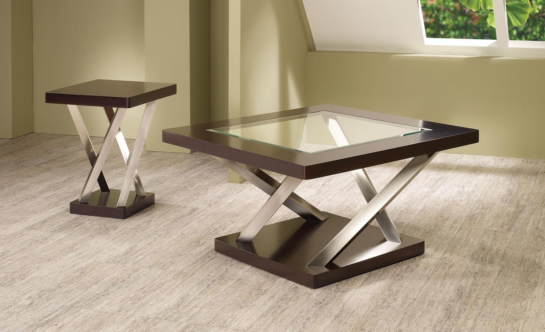 Coaster 701928 Coffee Table Set Espresso 701927 701928
