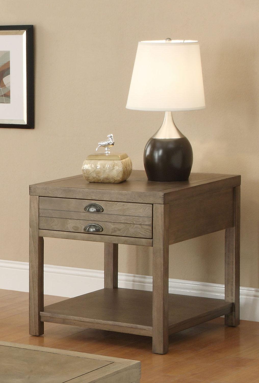 Coaster 701957 End Table - Light Oak