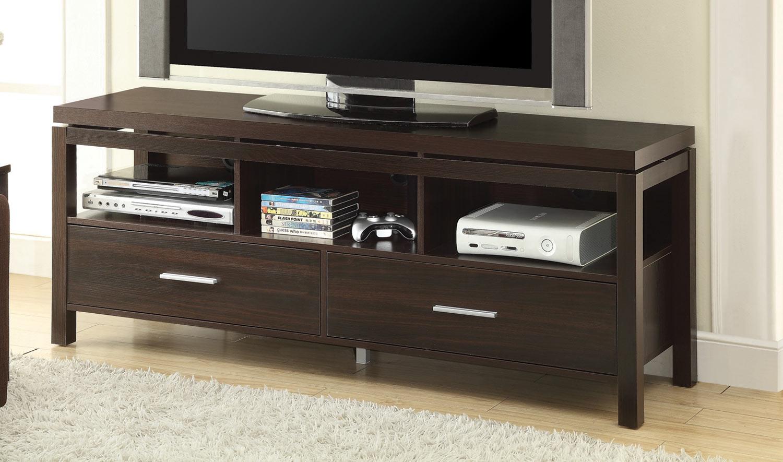 Coaster 701971 TV Console - Dark Brown