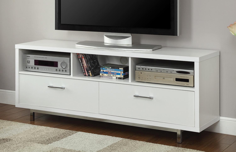 Coaster 701972 TV Console - White