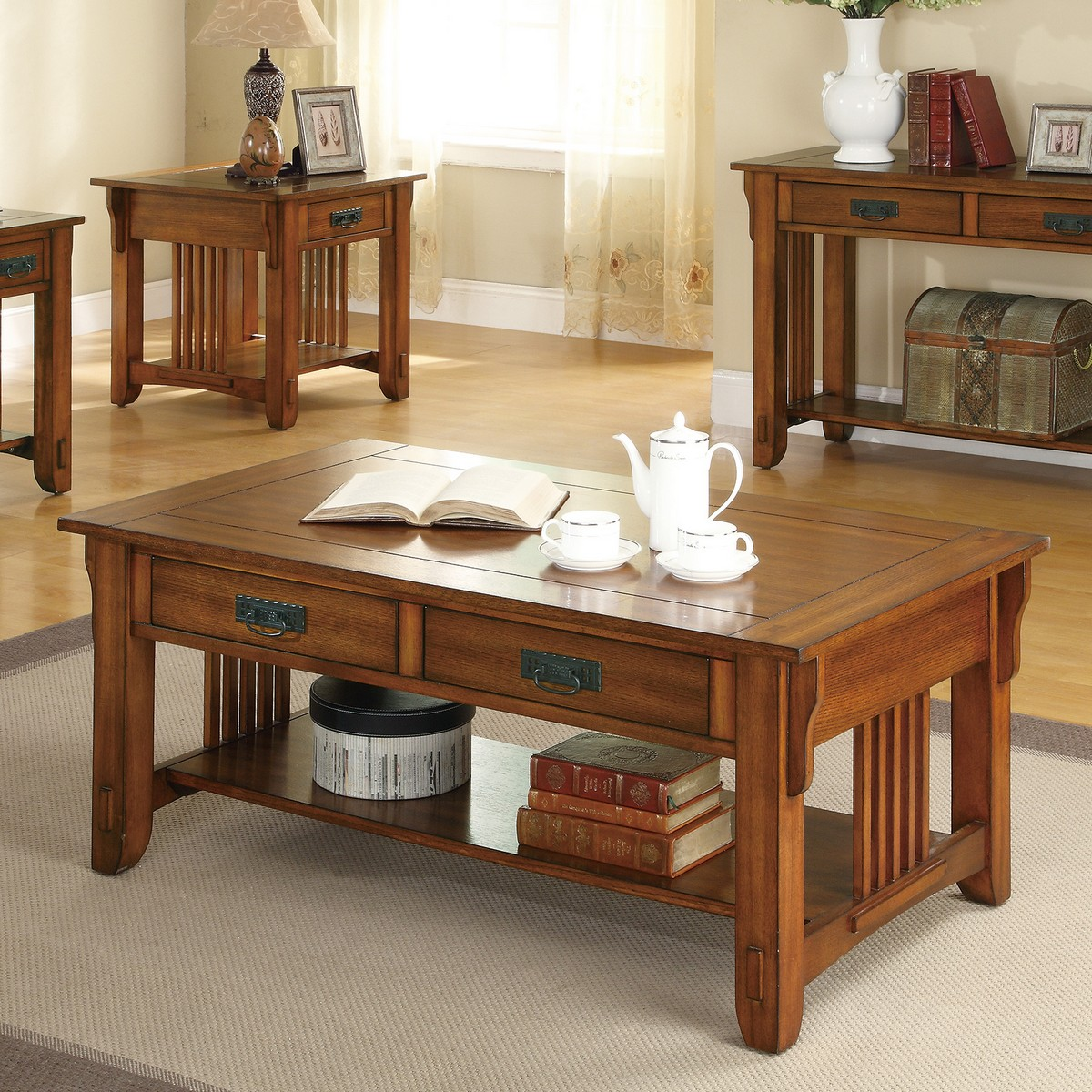 Coaster 702008 Coffee/Cocktail Table - Warm Brown
