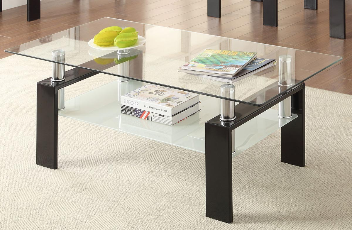 TroySys Glass Table Top Pencil Edge Tempered Glass 24