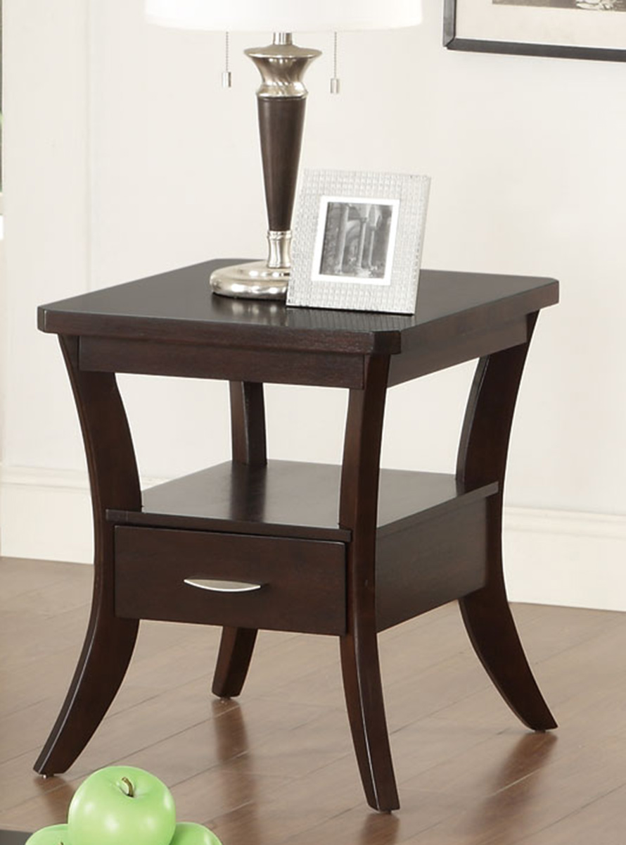 Coaster 702507 End Table - Espresso