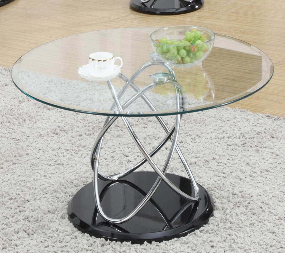 Coaster 702558 Coffee Table Black Chrome 702558 At