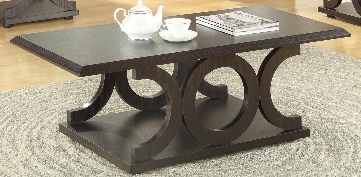 Coaster 703148 Coffee Table Cappuccino