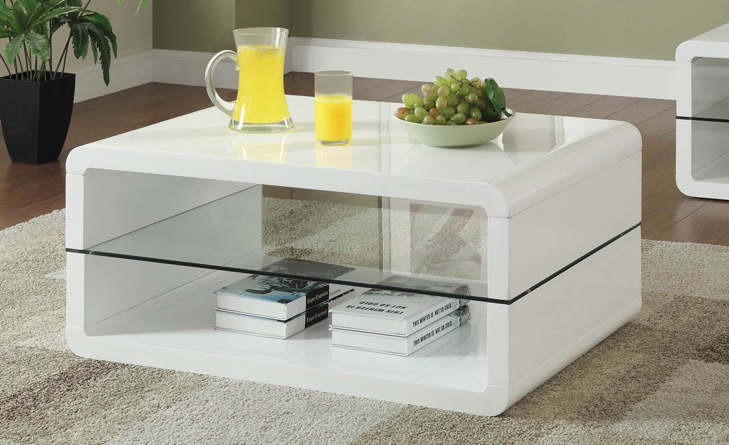 Coaster 703268 Coffee Table - Glossy White