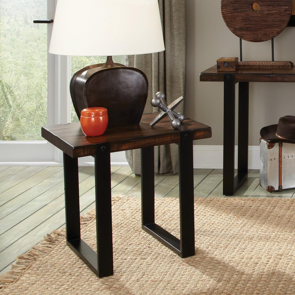 Coaster 703427 End Table - Vintage Brown/black