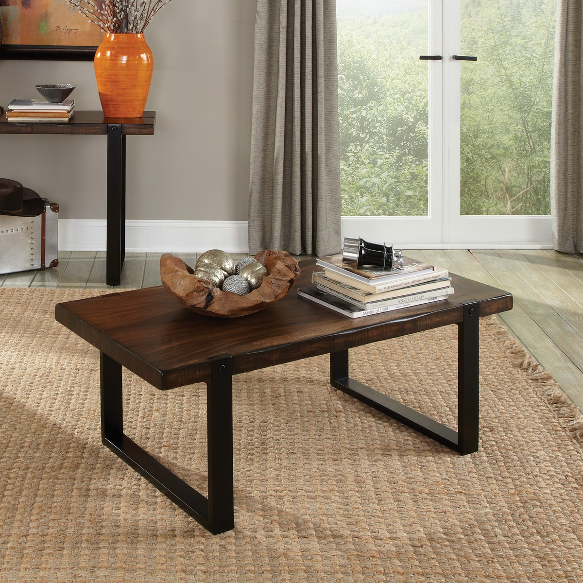 Coaster 703428 Coffee/Cocktail Table - Vintage Brown/black