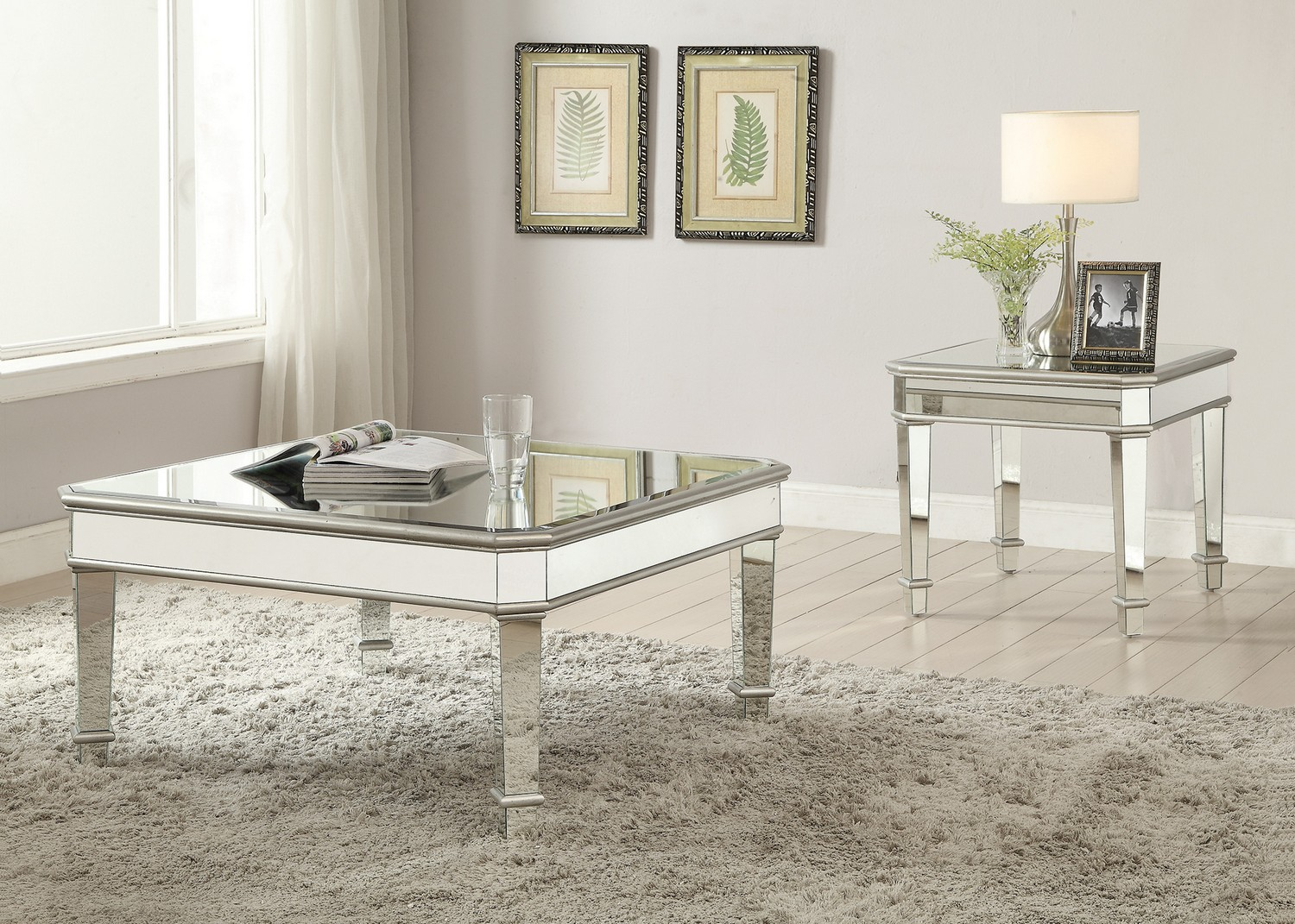 Coaster 703938 Coffee/Cocktail Table Set - Silver
