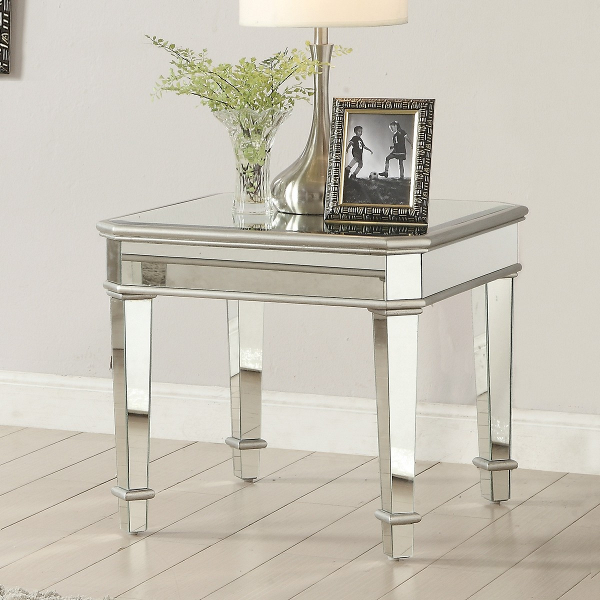 Coaster 703937 End Table Silver 703937 At Homelement Com