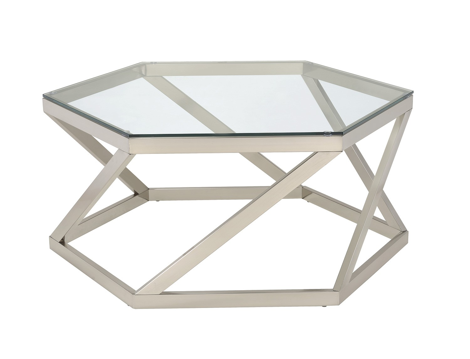 Coaster 704008 Coffee/Cocktail Table   Nickel