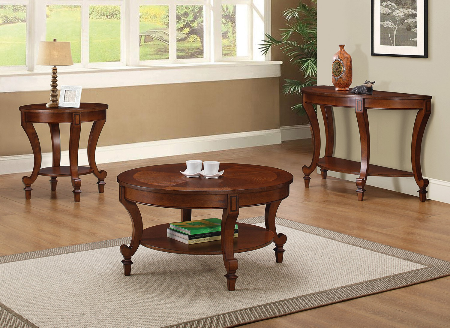 Coaster 704408 Coffee Cocktail Table Set Warm Brown