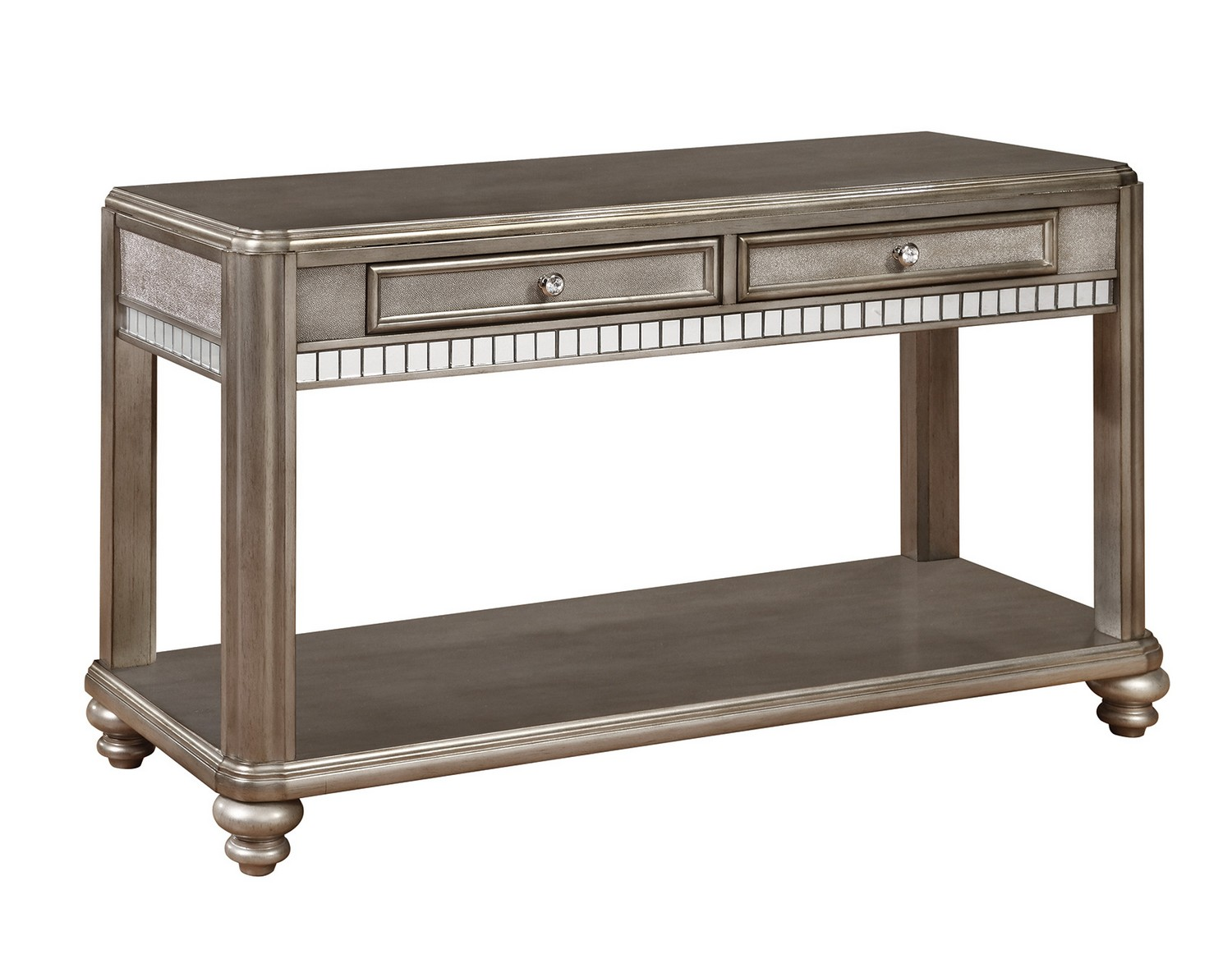 Coaster 704619 Sofa Table - Metallic Platinum