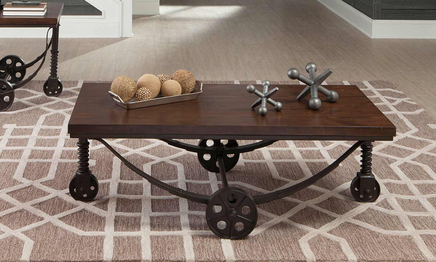 Coaster 704978 Occasional Coffee Table Set Chestnut Rustic Bronze 704978 Coffee Set At