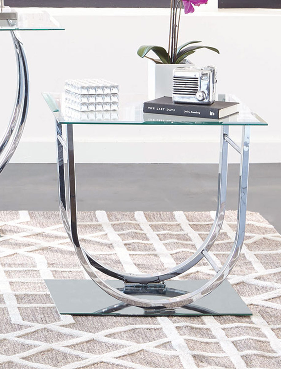 Coaster 704987 End Table - Chrome
