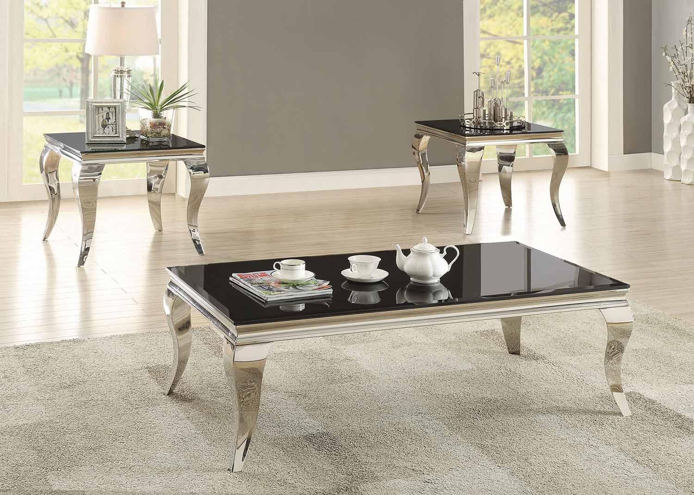 Coaster 705018 Occasional/Coffee Table Set - Chrome