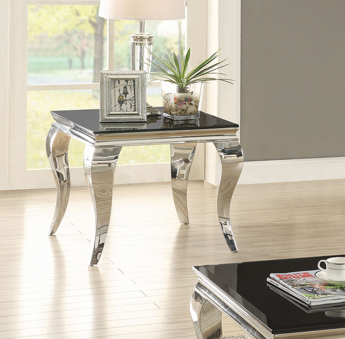 Coaster 705017 End Table - Chrome