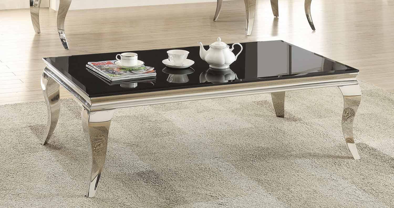 Coaster 705018 Coffee Table - Chrome