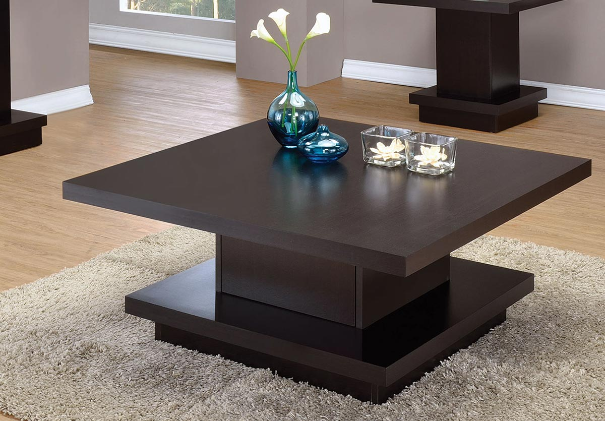 Coaster 705168 Coffee Table   Cappuccino