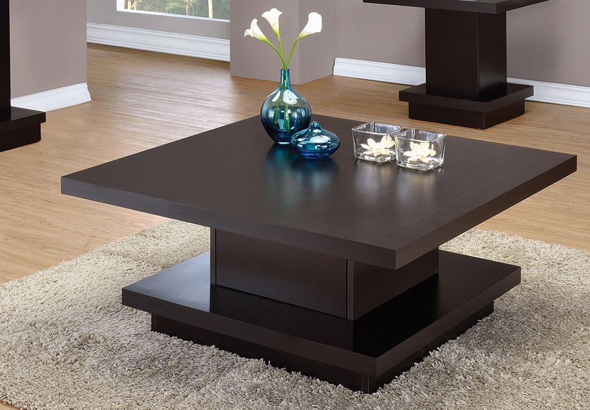 Coaster 705168 Coffee Table - Cappuccino