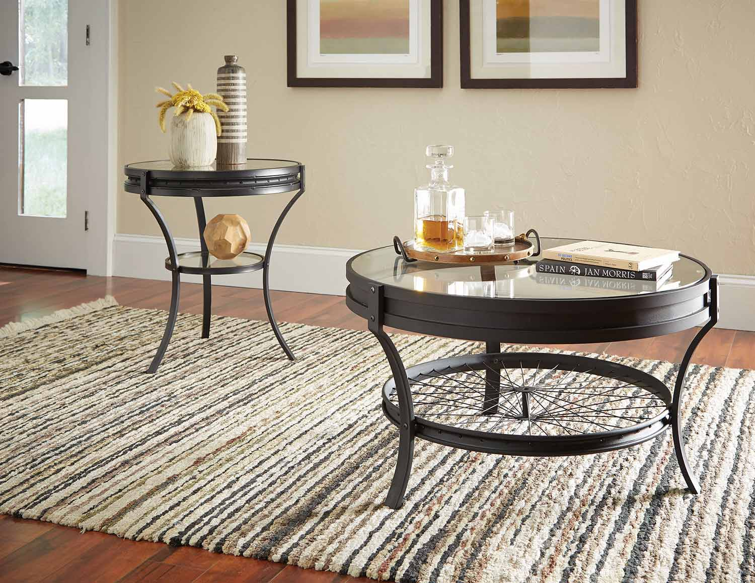 Coaster 705218 Occasional/Coffee Table Set - Sandy Black