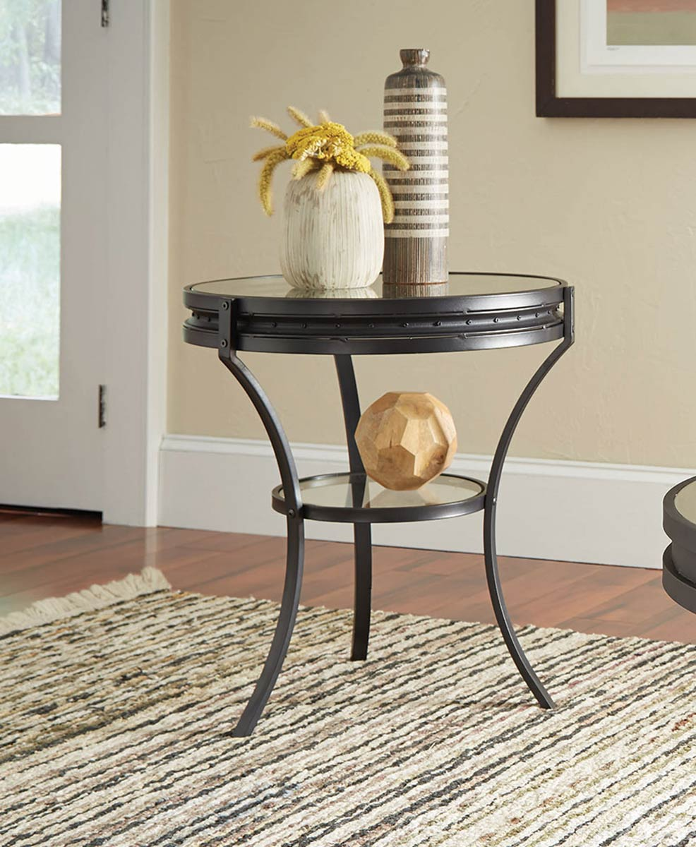 Coaster 705217 End Table - Sandy Black