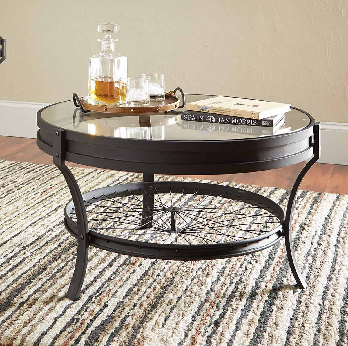 Coaster 705218 Coffee Table Sandy Black 705218 at Homelementcom